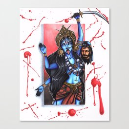 Kali the Destroyer Canvas Print
