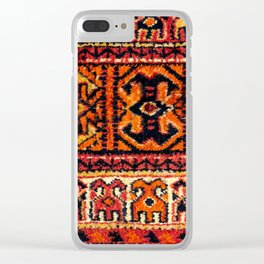 Image of a vintage carpet. Fluffy texture pattern Clear iPhone Case