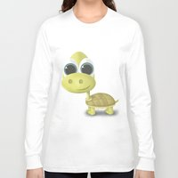 tortoise Long Sleeve T-shirts featuring Tortoise by Ainaragm