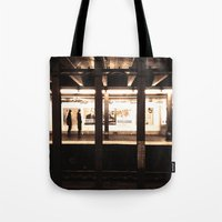 jewish Tote Bags featuring Rush Hour by Brown Eyed Lady