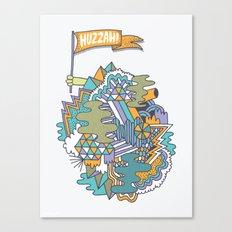 Huzzah! Canvas Print