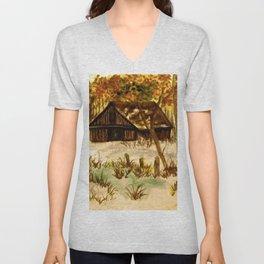 The Deserted Barn Unisex V-Neck