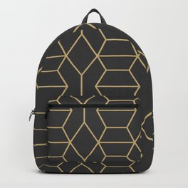 Comb in Charcoal and Gold Backpack