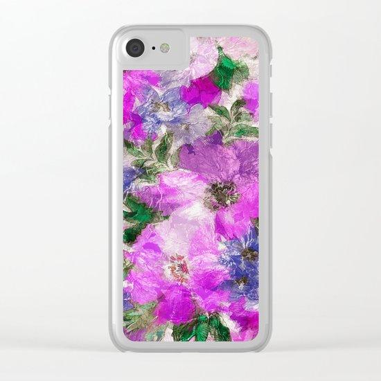 Splendid Flowers Clear iPhone Case