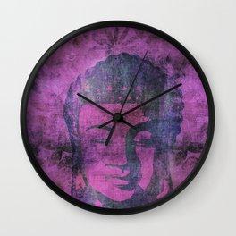 Watercolor Buddha Head Illustration Wall Clock