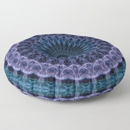 Detailed blue and violet mandala Floor Pillow