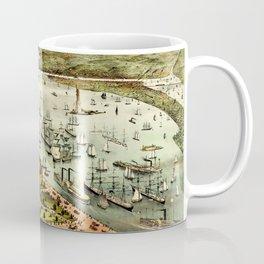 Map Of New York 1892 Coffee Mug