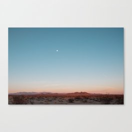 Desert Sky with Harvest Moon Canvas Print