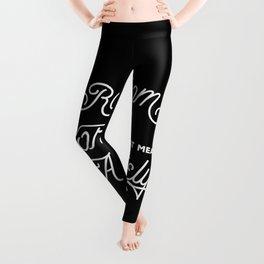 Monoline Inspiration in Black Leggings
