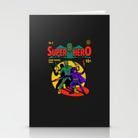 superhero Stationery Cards featuring Superhero Comic by harebrained