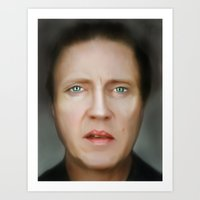 christopher walken Art Prints featuring Christopher Walken  by Amanda Ryan