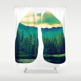 Lung Forest Fresh Shower Curtain