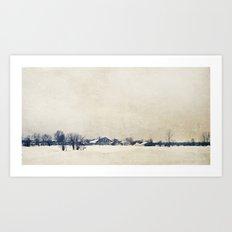 Winter On A Farm Art Print