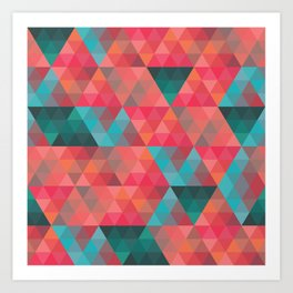Abstract Geometric Pattern colorful triangles abstract art Art Print