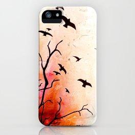 Birds flying iPhone Case