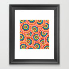Colorful Circles Framed Art Print