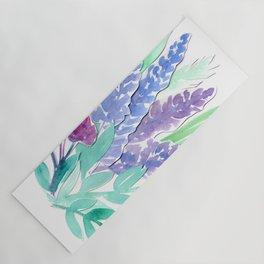 Lavender Floral Watercolor Bouquet Yoga Mat