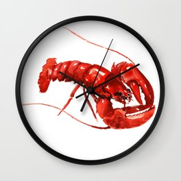 Red Lobster Wall Clock