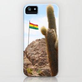 Cactus island Uyuni Bolivia. Isla Incahuasi, Inkawasi or Inka Wasi iPhone Case
