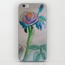 Flower inspiration modern paintings by Christian T. iPhone Skin