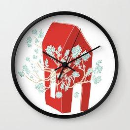 Break Free In Red Wall Clock