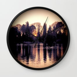 Sunset across the Lake. Wall Clock