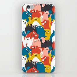 Cats Crowd Pattern iPhone Skin