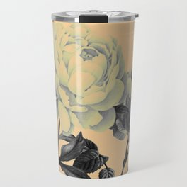 roeses on coral background Travel Mug