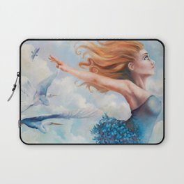 Zephyr, She Flies With Her Own Wings Laptop Sleeve