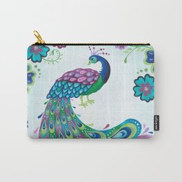 Flaunting It Peacock Carry-All Pouch