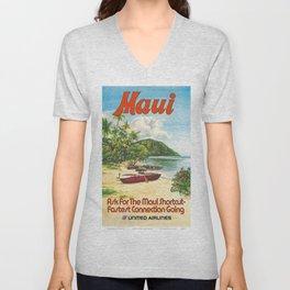 Vintage poster - Maui Unisex V-Neck