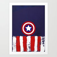 """steve rogers Art Prints featuring Captain """"Steve Rogers"""" America by Some_Designs"""