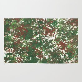 Green & Brown Camo Camouflage Hunting Invisible Military Rug
