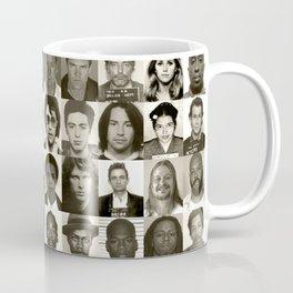 Celebrity Mugshots - Black & White Coffee Mug