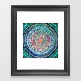 Pink and Turquoise Mandala Framed Art Print