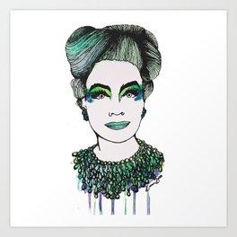 Emerald Mommy Dearest  Art Print