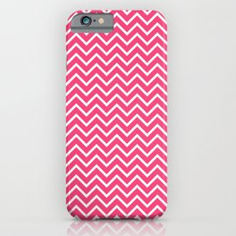Pink Chevron Pattern iPhone Case