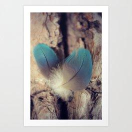Feather blues Art Print
