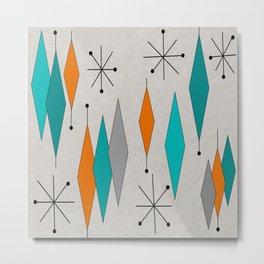 Mid-Century Modern Diamond Pattern Metal Print