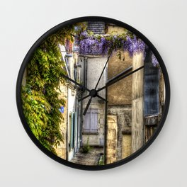 French Village Pouilly-sur-Loire in Spring, France Wall Clock
