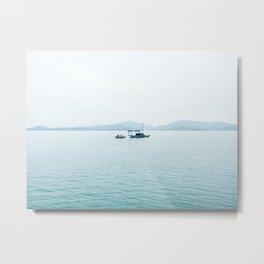 Blue Grey Lake Vietnam Metal Print