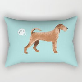 Irish Terrier farting dog cute funny dog gifts pure breed dogs Rectangular Pillow
