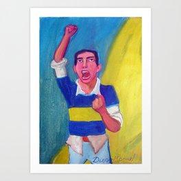 Soccer fan Art Print