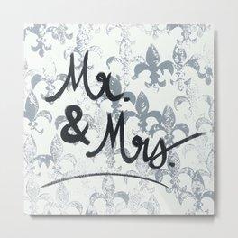 Mr & Mrs Metal Print