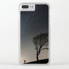Silhouette Under Stars Clear iPhone Case
