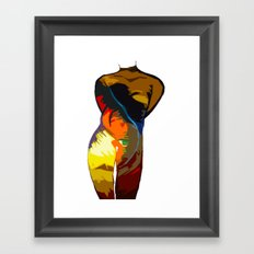 Feather Love Framed Art Print