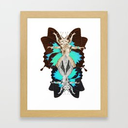 Femme Fatale Dancing - Butterfly Goddess Framed Art Print