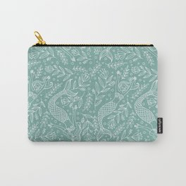 Mermaids and Flowers Carry-All Pouch
