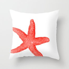 Coral Starfish Throw Pillow
