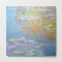 Monet water lilies 1908 Metal Print